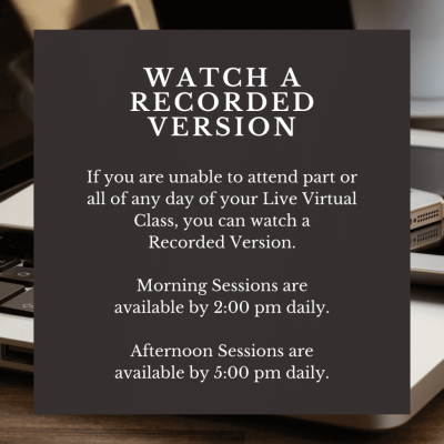 Live Virtual Accredited Professional Course